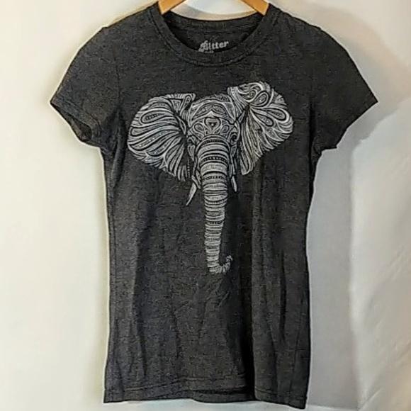 Bitter Sweet Tops - Elephant Graphic Festival Yoga T Shirt